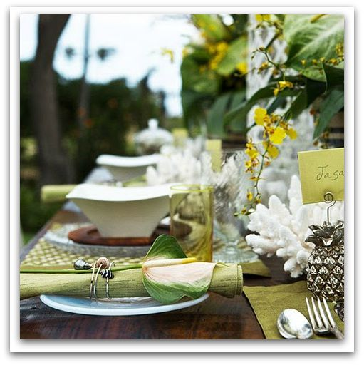 A touch of Island inspiration with this tablescape