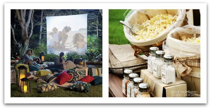 An outdoor movie in your own backyard AND yummy popcorn!