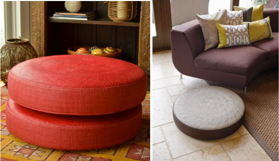 Add a throw and the ottoman gives you more seating. Put up your feet after a long day and the ottoman extends your chair or sofa into a luxurious chaise. Then there is the all-time favorite trick of designers and hosts: add a tray to the surface of an ottoman and it becomes an extra table. Photos copyright Kouboo.com, LLC