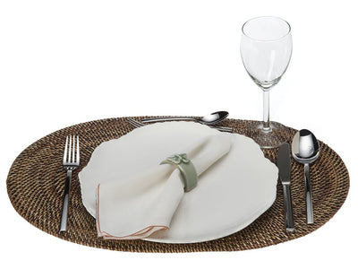 Carmel Oval Nito Placemat, Set of 2