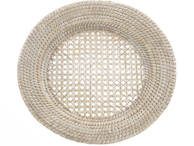 La Jolla Round Rattan Charger Plate, Set of 2