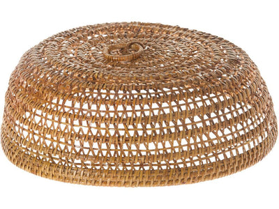 La Jolla Rattan Food & Plate Cover, Honey Brown