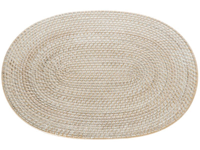 Laguna Oval Rattan Placemat Set of 2