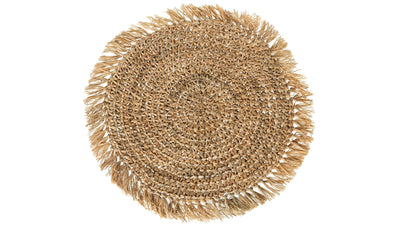 Round Sisal Placemat, Natural, Set of 2 Pieces