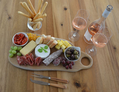 Balian Teak Wood Tapas, Meat and Cheese Serving Board, Natural