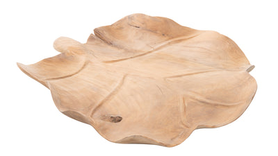 Balian Teak Wood Decorative Leafy Bowl and Center Piece, Natural