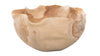 Balian Teak Wood Fruit Bowl with Wavy Edge