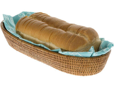 La Jolla Rattan Bread Basket, Large