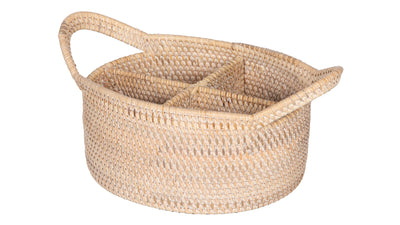Loma Oval Rattan Utensil Caddy