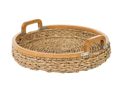 Round Anson Serving Tray in Sea Grass