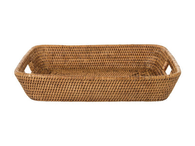 La Jolla Rectangular Serving Tray, Honey Brown