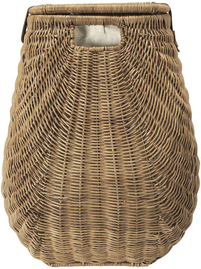 Wicker Hamper with Liner, 2 Load Capacity
