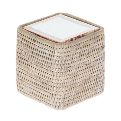 La Jolla Rattan Square Tissue Box Cover