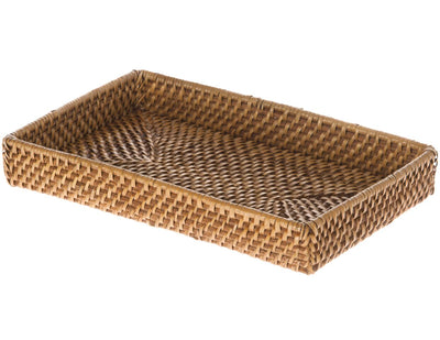 Laguna Rattan Small Vanity Tray, Honey Brown