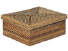 Carmel Handwoven Nito Wet Wipe Box, Honey Brown