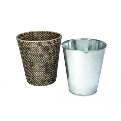 Laguna Round Rattan Waste Basket with Tin Insert
