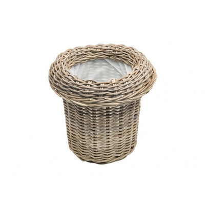 Rattan Round Waste Basket with Removable Ring