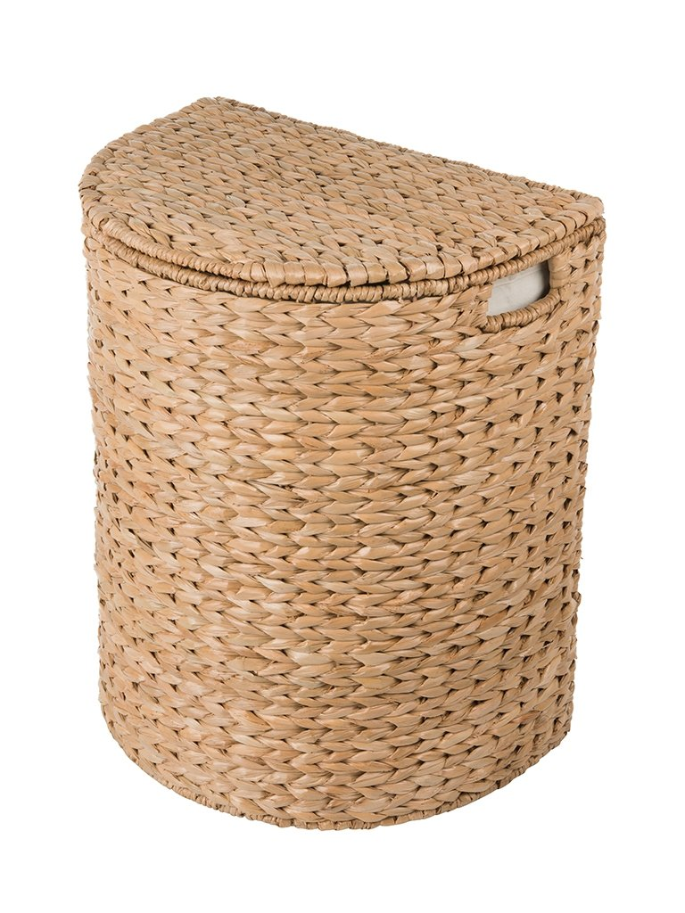 Sea Grass Half Moon Hamper And Laundry Basket With Removable Liner Na