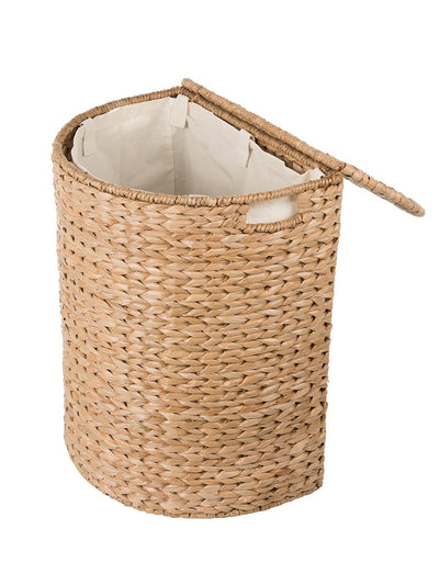 Sea Grass Half Moon Hamper and Laundry Basket with Removable Liner, Natural Color