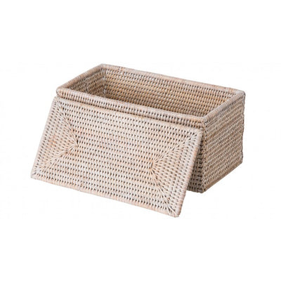 La Jolla Rectangular Rattan Storage and Toilet Roll Box