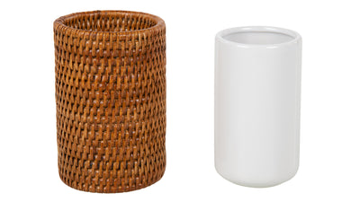 La Jolla Rattan Bathroom Tumbler and Toothbrush Holder (10 fl.oz.)