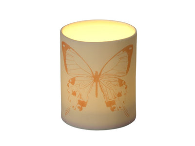 Butterfly Porcelain Votive Candle Holder and Bud Vase