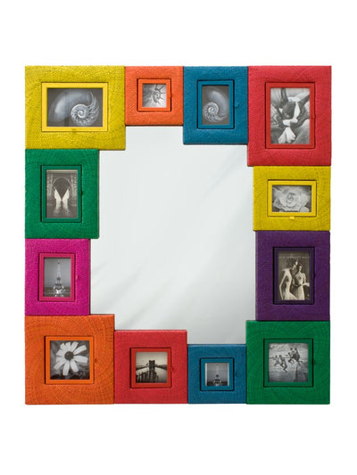 Picture Framed Wall Mirror, Multi-Color