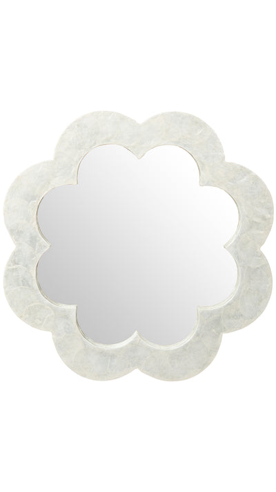 Flower Capiz Seashell Wall Mirror