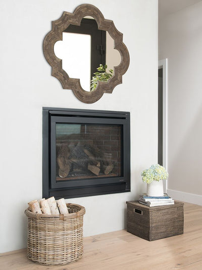 Quatrefoil Ash Wood Wall Mirror