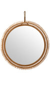 Rattan Coiled Round Wall Mirror