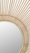 Rattan Spoke Wheel Mirror, Natural