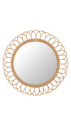 Fleur Decorative Rattan Wall Mirror