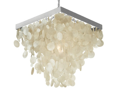 Capiz Rain Drop Pendant Lamp, Natural White