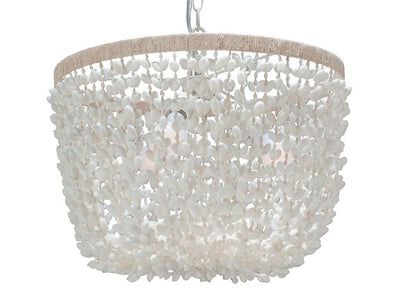 Inverted Pendant Lamp in Bubble Seashell, White