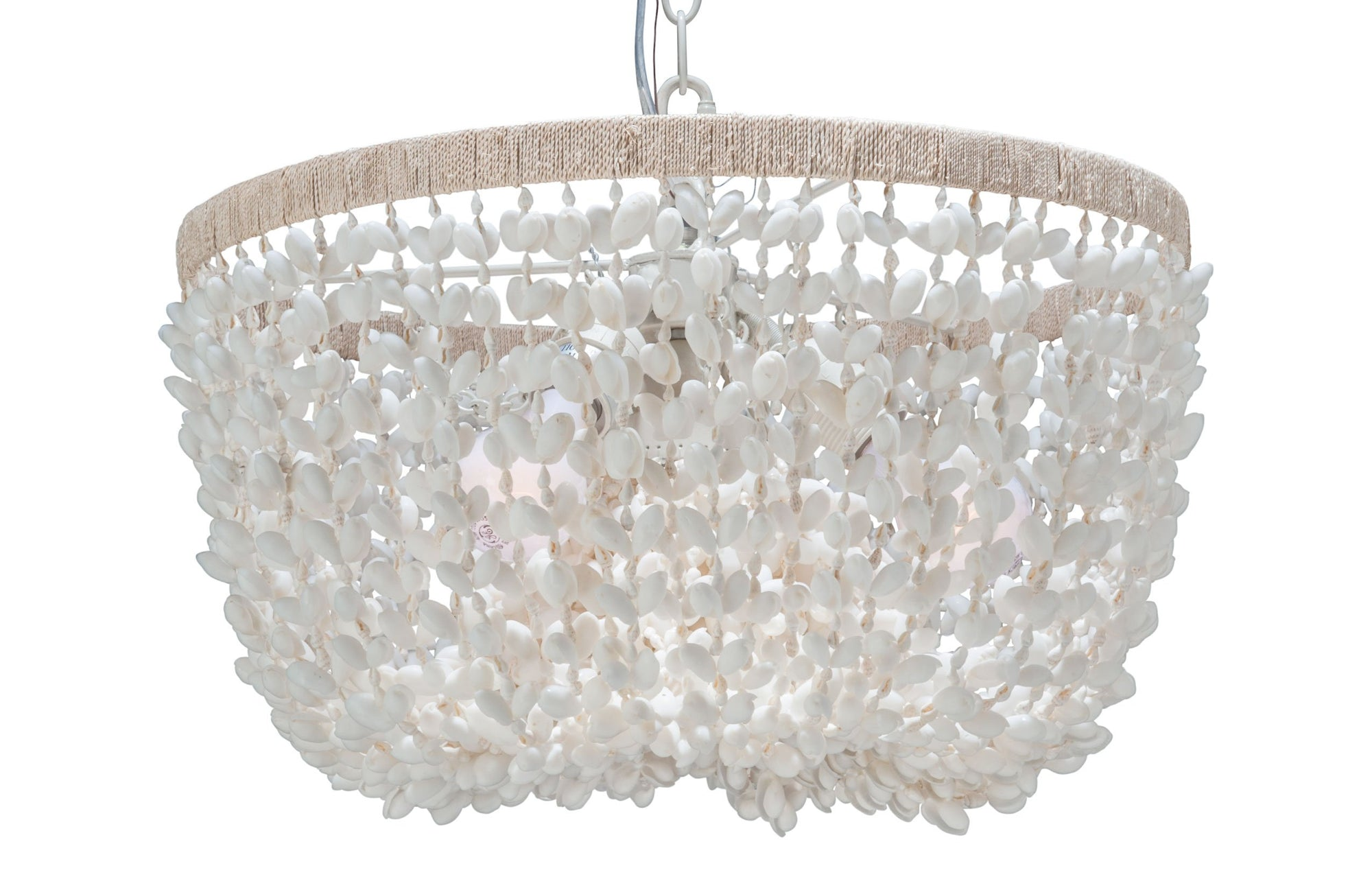Inverted Pendant Lamp In Bubble Seashell White