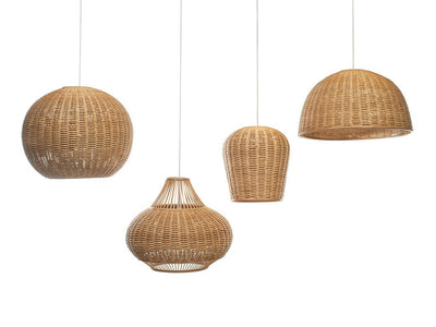 Wicker Ball Pendant Lamp