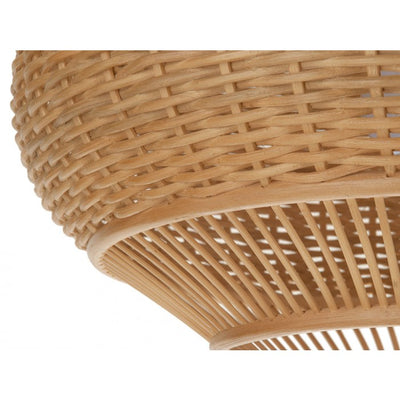 Wicker Pear-Shaped Pendant Lamp