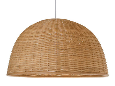 Wicker Dome Pendant Lamp