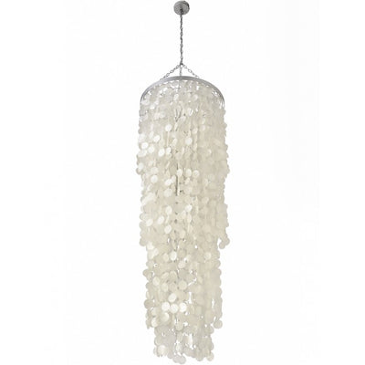 Round King Size Chandelier with Round Capiz