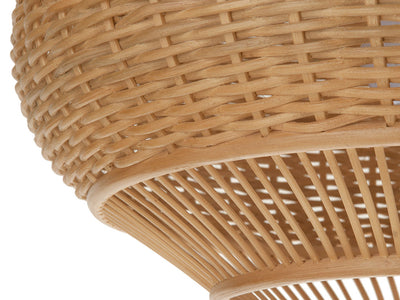 Wicker Pear-Shaped Pendant Lamp, Extra Large