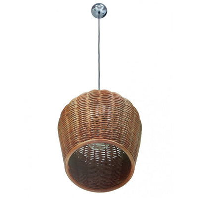 Wicker Pod Pendant Lamp