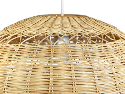 Open Weave Wicker Ball Pendant Lamp, Natural