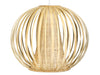 Bamboori Ball Pendant Lamp, Natural Brown