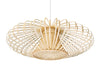Bamboori Discus Pendant Lamp, Natural Brown