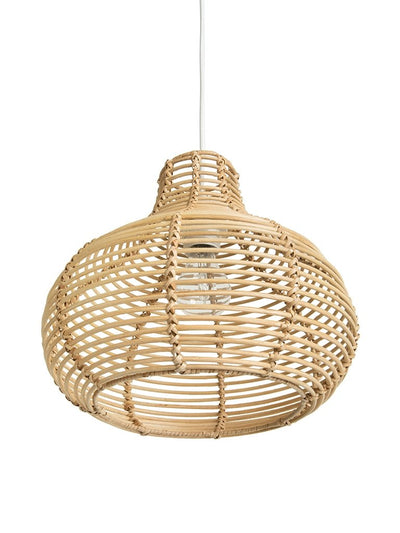 Palau Continuous Weave Horizon Wicker Lamp, Natural, Small