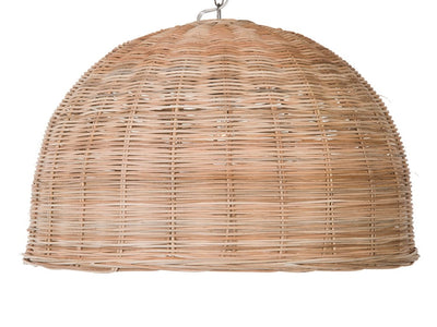 Panay Wicker Dome Pendant Lamp. Natural