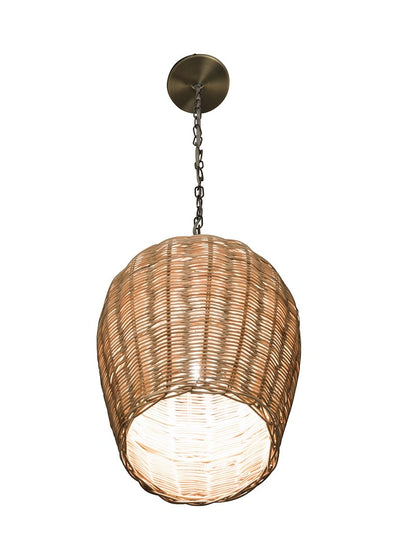 Panay Wicker Pod Pendant Lamp, Natural