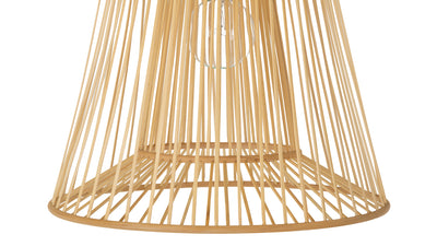 Bamboo Double Cone Pendant Lamp, Natural, Small