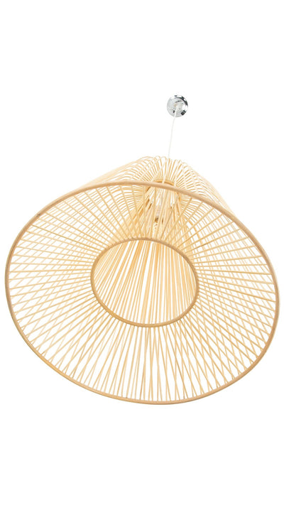 Bamboo Double Cone Pendant Lamp, Natural, Large