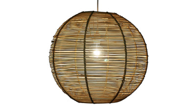 Palau Continuous Weave Wicker Ball Pendant Lamp